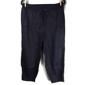 Eileen Fisher Tapered Leg Crop Linen Pants Small